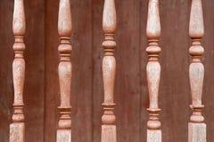 Les vieux balustres en bois Images libres de droits