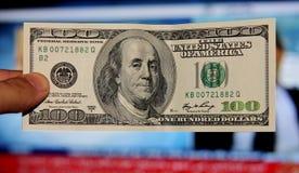 Les vieux cent dollars Photographie stock