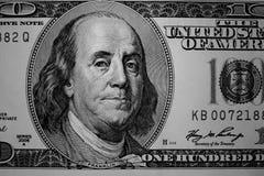 Les vieux cent dollars Photographie stock libre de droits