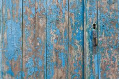 Les vieux conseils en bois ont peint le fond photos stock