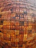 Les vieux modèles de carreaux de céramique de mur handcraft le backgound intérieur du public de parcs de la Thaïlande photographie stock libre de droits