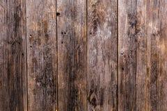 Les vieux panneaux en bois naturels sont brun foncé avec une belle texture claire profonde Image libre de droits