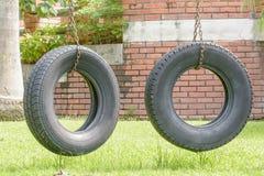 Les vieux pneus modifient l'oscillation Image stock