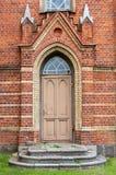 Les vieux portes et escaliers Photo libre de droits