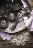 Les vieux ustensiles de cuisine Image stock