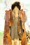 Les vieux vêtements nationaux du nomade Image libre de droits