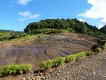 Les vingt-trois terres colorées Image stock