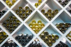 Les vins en bois rayonnent Photos libres de droits
