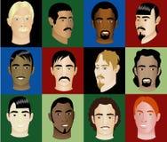 Les visages 2 des hommes Photo libre de droits