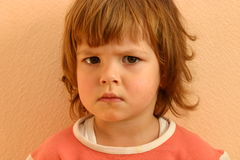 Les visages de l'enfant Photos libres de droits
