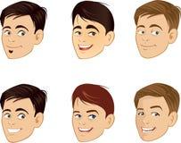 Les visages de sourire des hommes Photo stock