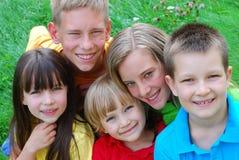 Les visages des enfants Image libre de droits