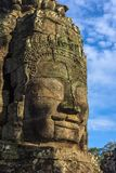 les visages en pierre de bayon des personnes, Siem Reap, Cambodge, étaient inscri Image libre de droits