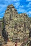 les visages en pierre de bayon des personnes, Siem Reap, Cambodge, étaient inscri Photo libre de droits