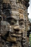 Les visages magnifiques Bayon Images libres de droits