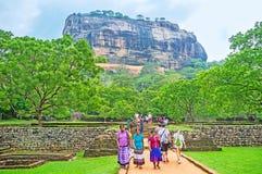 Les visiters de Sigiriya Images stock
