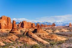 Les voûtes garent le plateau et le Mt Waas aux Etats-Unis Image libre de droits