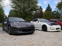 Les voitures de sport de Nissan de modification rassemblent rapide furieux Photos libres de droits