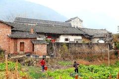 Les vues d'hiver de la campagne en Chine images libres de droits
