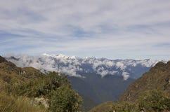 Les vues de l'Inca traînent, Machu Picchu Image stock