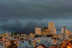 Les vues de nuit de Nha Trang Le Vietnam, Nha Trang Photographie stock libre de droits
