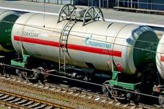 Les wagons-citernes ferroviaires Photos libres de droits