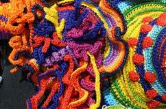 les weavings de la laine filète avec des formes géométriques photographiée avec Photo libre de droits