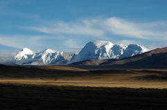 Les wildernss et les montagnes de neige Photo libre de droits