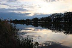 Les Wildflowers aménagent la rivière en parc heureuse de mer photographie stock