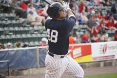 Les Yankees de barre de Scranton Wilkes battent Jorge Vasquez Photographie stock
