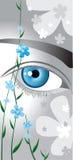 Les yeux comme m'oublient pas illustration de vecteur
