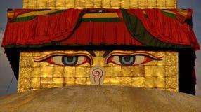 Les yeux de Bouddha Photos stock