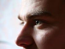 Les yeux de l'homme Images libres de droits