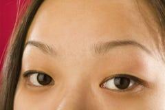 Les yeux de la femme asiatique Image libre de droits