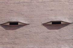 Les yeux du toit Photo stock