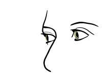 Les yeux redressent Image libre de droits
