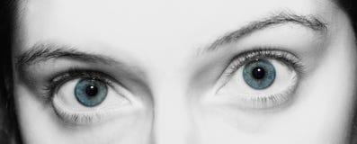 Les yeux se ferment vers le haut Image libre de droits