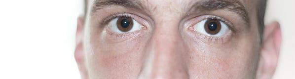 Les yeux se ferment vers le haut du visage Image libre de droits