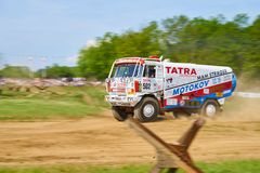 Tatra Dakar version in action royalty free stock image