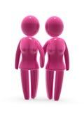 lesbian пар Стоковое Фото