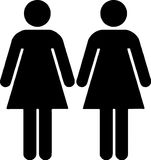 Lesbian couple. (toilet sign figure) isolated illustration Royalty Free Stock Photos