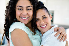 Lesbian couple embracing each other Stock Photography