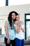 Lesbian couple embracing each other Stock Images