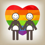 Lesbian couple Royalty Free Stock Photos