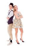 Lesbian couple standing with back to back with their arms crosse Stock Images