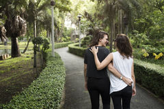 Lesbian Couple Together Outdoors Concept Royalty Free Stock Images