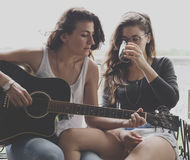 Lesbian Couple Together Outdoors Concept Royalty Free Stock Photo