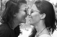 Lesbian Couple Together Outdoors Concept Royalty Free Stock Image
