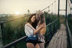 Lesbian Couple Together Outdoors Concept Stock Image
