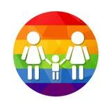 Lesbian family rainbow Stock Image